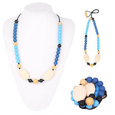 Teething Nursing Breastfeeding Necklace beads baby chew jewelry Silicone