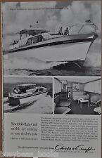 1962 CHRIS-CRAFT advertisement, Chris Craft 52ft Constellation cabin cruiser