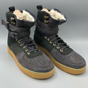 Nike Size 12 Air Force One Premium High SF AF1 PRM Blk BV0130 001 Sherpa Fleece