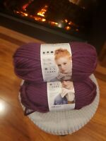 Lion Brand Yarn, Hometown USA, 3 Skeins, Portland Wine, 3 Skeins, Brand New