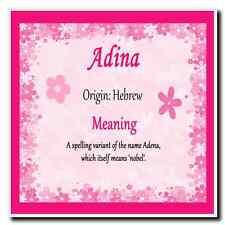 Adina Personalised Name Meaning Coaster