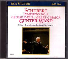 Günter WAND: SCHUBERT Symphony No.9 die Große Kölner RSO RCA CD Gunter Sinfonie