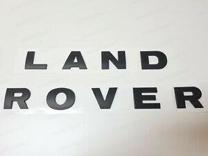LAND ROVER MATTE Black 3D LETTERS HOOD OR TRUNK TAILGATE EMBLEM BADGE NAMEPLATE