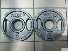 12 BRAND NEW WEIDER OLYMPIC 5 LB GRIP PLATES! FREE SHIPPING!!