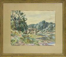 Künstlerische Aquarell-Malereien im Impressionismus
