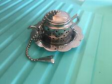 Knobler Tea Ball Infuser Kettle Shape Silver Plate Hong Kong Small