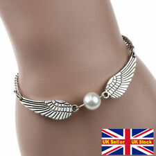 Guardian Angel Wing Chain Bracelet Silver Bangle Protection Friendship Gift UK