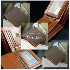 Faux Leather Bifold Wallets for Men with Organizer