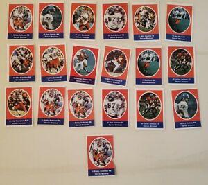 1972 Sunoco Football Stamps - Denver Broncos Lot of 19
