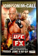 """UFC FX3 Auto 2012 Event Poster 26x40 Demetrious """"Mighty Mouse"""" JOHNSON vs MCCALL"""
