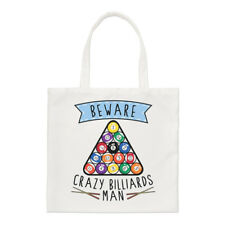 Beware Crazy Billiards Man Regular Tote Bag Funny