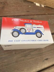 Ford Model A Tanker - FINA - Die Cast Coint Bank 1:25