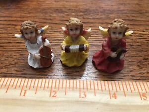 Thimbles Resin 3 Angels Playing Musical Instruments