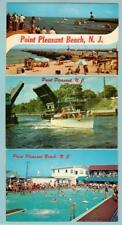 POINT PLEASANT, NJ (3) ORIGINAL POSTCARDS 1960'S USED W/ STAMPS