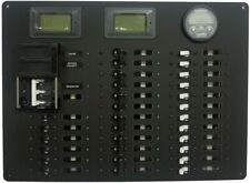 **AC/DC POWER DISTRIBUTION PANEL, 29+ POSITION Blue Sea Circuit Breaker Switches