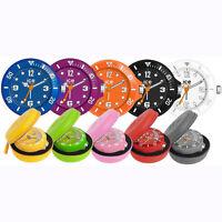 Genuine Ice Clock Watch Rubberised Backlight Travel Alarm Clock & Case xmas Gift