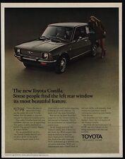 1970 TOYOTA COROLLA Green Car - Beautiful Woman - VINTAGE AD