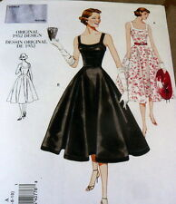 1950s VOGUE VINTAGE MODEL DRESS SEWING PATTERN 12-14-16 UC