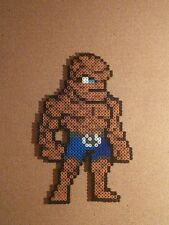 The Thing Fantastic 4 perler art necklace rave  edm edc sprite hama  kandi