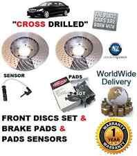 FOR MERCEDES C250 W204 SPORT 2009--> FRONT BRAKE DISC SET & PAD KIT+ SENSOR