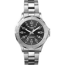 Timex T2P391,  Men's Silvertone Bracelet Watch, Date, 50 Meter WR, T2P3919J