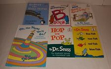 Lot (6) Dr. Seuss Books Places You'll Go Hop on Pop One Two Fish Horse Hardcover