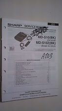 Sharp md-s10 z service manual original repair book stereo minidisk player