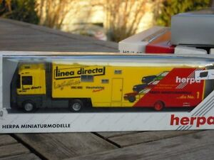 """Herpa 36795 Renault Race Car Transporter """" Neumeister Racing """" # Boxed"""