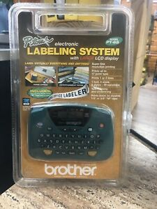 Brother P-Touch PT-65 Label Thermal Printer  Large LCD Display NEW
