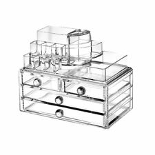 Ohuhu Acrylic Makeup Cosmetics Organizer 4 Drawers with Top Section