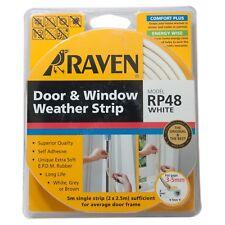 Raven 5m EPDM Door & Window Weather Strip White Rp48 for 3-5mm Gap R48W -