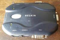 Belkin 2-Port KVM Switch F1DJ102P  NO AC ADAPTER Used