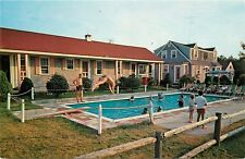 Ranch Rail Motor Court Canterville Cape Cod Massachusetts Postcard