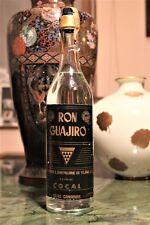 "RUM RON GUAJIRO Anni 40 = VERY OLD BOTTLE = OLD RHUM – RUM "" BLANCO  "" 1 l. ? –"