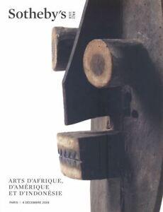 Sotheby's Paris Arts D'Afrique, D'Amérique et D'Indonésie 04/12/2019