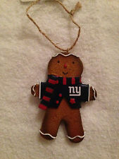 NEW YORK NY GIANTS TEAM GINGERBREAD MAN CHRISTMAS TREE ORNAMENT NFL