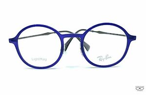 RAY BAN LIGHTRAY ROUND AUTHENTIC METAL FRAME EYEGLASSES RB 7087 5636 48-21 140