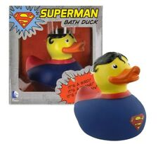 Superman Rubber Duck Bath Toy Fun DC Comics Super Hero Quacker Licensed Product