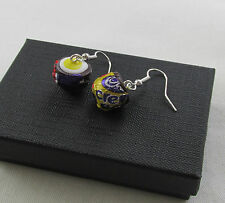Handmade Fun Quirky Novelty Fimo Chocolate Creme Egg Earrings - Boxed