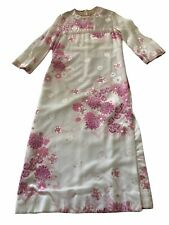New listing House Of Branell Pink Floral Sheer Vintage Dress circa 1970s