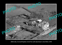 OLD LARGE HISTORIC PHOTO HALLWORTHY CORNWALL ENGLAND AERIAL VIEW OF HOTEL c1950