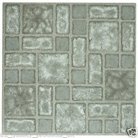 28 x Vinyl Floor Tiles - Self Adhesive - Bathroom Kitchen BNIB - Grey Mosaic 189