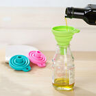 Mini Silicone Gel Foldable Collapsible Style Funnel Hopper Home Kitchen Gadget