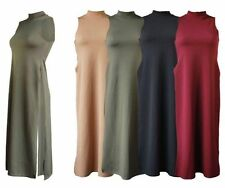 Viscose Polo Neck Party Sleeveless Dresses for Women