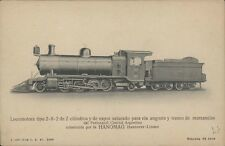 ARGENTINA RAILWAYS FFCC LOCOMOTORA TIPO 2-8-2   DEL F.C.A. HANOMAG 3408