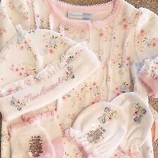 SWEET! NEW VITAMINS BABY PREEMIE 4PC BUTTERFLY SLEEP GOWN W/HAT,SOCKS,MITTENS