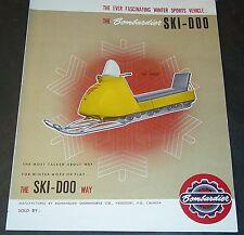 RARE VINTAGE 1964 SKI-DOO SNOWMOBILE SALES BROCHURE 4 PAGES VERY NICE  (984)