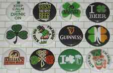 "IRISH (12 Button Set) 1"" Inch Pins -GUINNESS CHIVE St. Patricks Beer Celtic Bar"