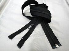 Chiusura lampo 6 nylon divisibile con 1 cursore autobloccante cm.150 colore nero