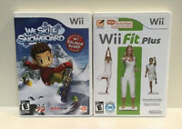 Lot Of 2 Wii Games Wii Fit Plus And We Ski & Snowboard (No board)